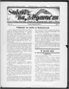 Sokół na Pomorzu 1937, R. 6, nr 11