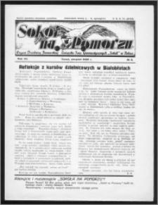 Sokół na Pomorzu 1938, R. 7, nr 8