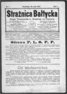 Strażnica Bałtycka 1924, R. 1, nr 1