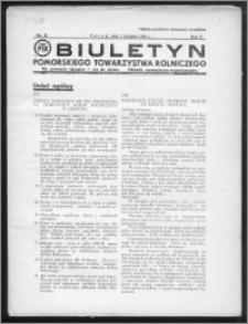 Biuletyn Pomorskiego Towarzystwa Rolniczego 1935, R. 2, nr 8