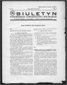 Biuletyn Pomorskiego Towarzystwa Rolniczego 1937, R. 4, nr 7-A