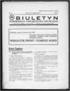 Biuletyn Pomorskiego Towarzystwa Rolniczego 1937, R. 4, nr 12