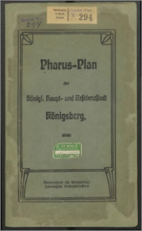 Pharus-Plan Königsberg i/Pr