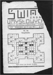 Świat Zadań Umysłowych 1935, R. 1, nr 6