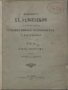 Monografia XX. Sanguszków oraz innych potomków Lubarta-Fedora Olgerdowicza X. Ratneńskiego. T. 3, Gałąź koszyrska