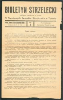 Biuletyn strzelecki R.1928, nr 4