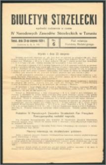 Biuletyn strzelecki R.1928, nr 6