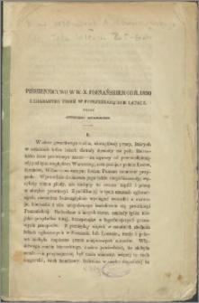 Piśmiennictwo w Wielkim Księstwie Poznańskiem od r. 1850 i charakter tegoż w poprzedzających latach