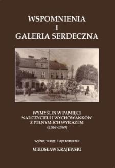 Wspomnienia i Galeria Serdeczna : Wymyślin w pamięci nauczycieli i wychowanków z pełnym ich wykazem (1867-1969)