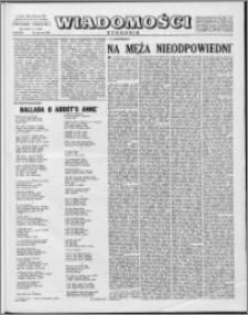 Wiadomości, R. 17 nr 4 (826), 1962