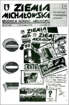 Ziemia Michałowska : Brodnica-Górzno-Jabłonowo R. 1994, Nr 17 (100)