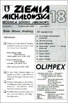 Ziemia Michałowska : Brodnica-Górzno-Jabłonowo R. 1994, Nr 18 (101)