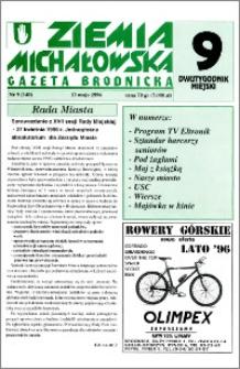 Ziemia Michałowska : Gazeta Brodnicka R. 1996, Nr 9 (140)