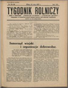 Tygodnik Rolniczy 1937, R. 21 nr 19/20