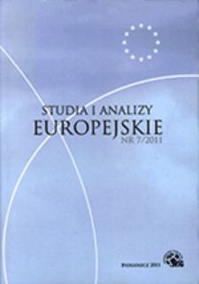 Studia i Analizy Europejskie: półrocznik naukowy. Nr 7 (2011)