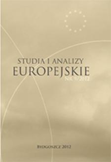 Studia i Analizy Europejskie: półrocznik naukowy. Nr 9 (2012)