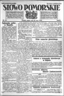 Słowo Pomorskie 1922.05.19 R.2 nr 115
