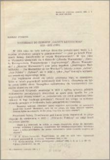 """Materiały do dziejów """"Gazety Literackiej"""" : 1821-1822 (1823)"""