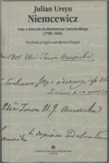 Listy z Ameryki do Adama Kazimierza Czartoryskiego : (1798-1806)