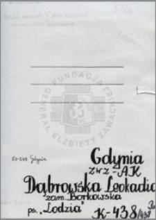 Dąbrowska Leokadia