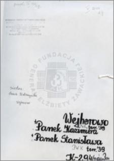 Panek Kazimiera, Panek Stanisława