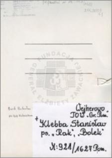 Klebba Stanisław