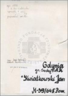 Kwiatkowski Jan