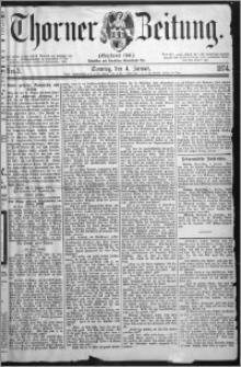 Thorner Zeitung 1874, Nro. 3 + Beilage