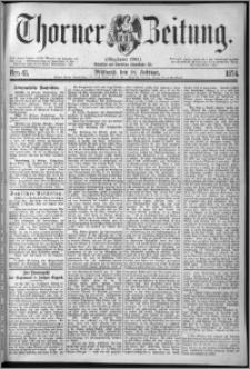 Thorner Zeitung 1874, Nro. 41