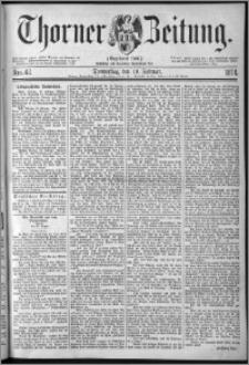 Thorner Zeitung 1874, Nro. 42