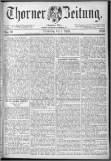 Thorner Zeitung 1874, Nro. 78