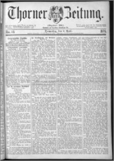 Thorner Zeitung 1874, Nro. 83