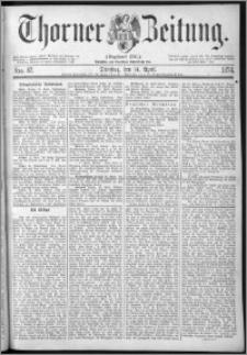 Thorner Zeitung 1874, Nro. 87
