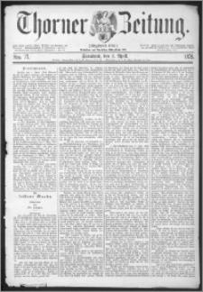 Thorner Zeitung 1875, Nro. 77
