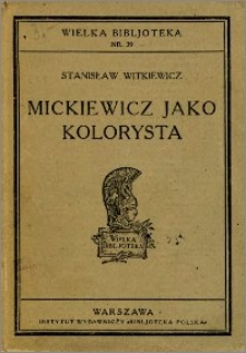 Mickiewicz jako kolorysta