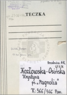 Kozłowska-Osińska Krystyna