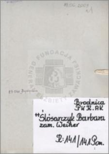 Ślósarczyk Barbara
