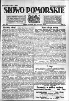Słowo Pomorskie 1922.07.23 R.2 nr 167