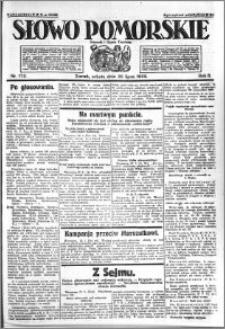Słowo Pomorskie 1922.07.29 R.2 nr 172