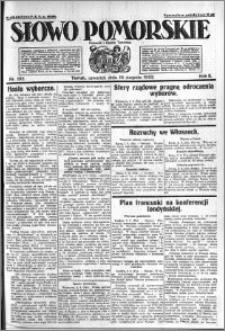 Słowo Pomorskie 1922.08.10 R.2 nr 182