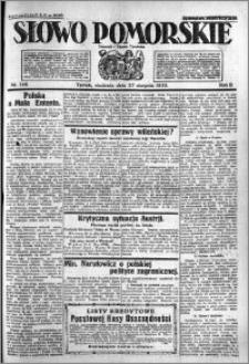 Słowo Pomorskie 1922.08.27 R.2 nr 196