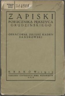 Zapiski porucznika Pększyca Grudzińskiego