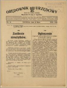 Orędownik Urzędowy Powiatu Tucholskiego 1928, Nr 58