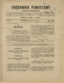 Orędownik Powiatowy Powiatu Tucholskiego 1928 Nr 72