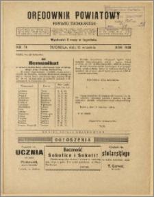 Orędownik Powiatowy Powiatu Tucholskiego 1928 Nr 74