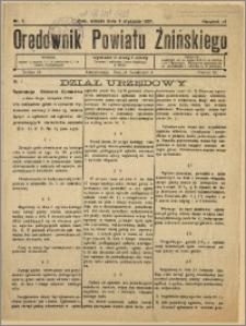 Orędownik Powiatu Żnińskiego 1931 Nr 1