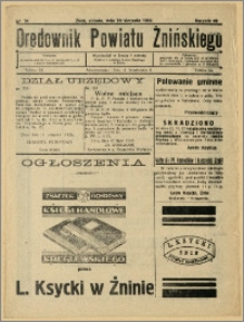 Orędownik Powiatu Żnińskiego 1932 Nr 34