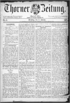 Thorner Zeitung 1877, Nro. 5 + Beilage