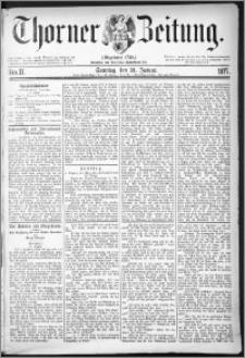 Thorner Zeitung 1877, Nro. 17 + Beilage