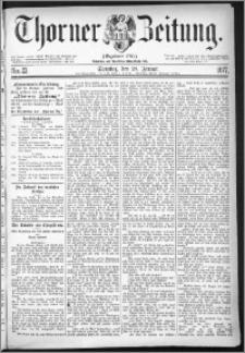 Thorner Zeitung 1877, Nro. 23 + Beilage